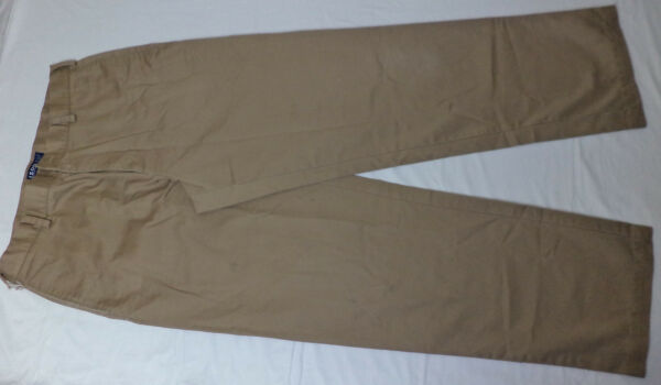 IZOD BROWN ZIPPER FRONT CLASSIC FIT CHINO PANTS SIZE 36x33 #181