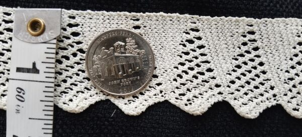 A27 Antique Knit Lace Trim Edging Trims Sewing Doll Clothes Design 1yd