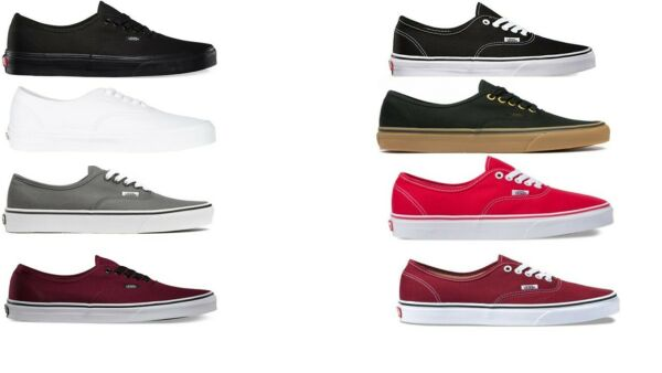 VANS CLASSIC AUTHENTIC NEW Sizes 3.5-15 Canvas Free Fast Shipping