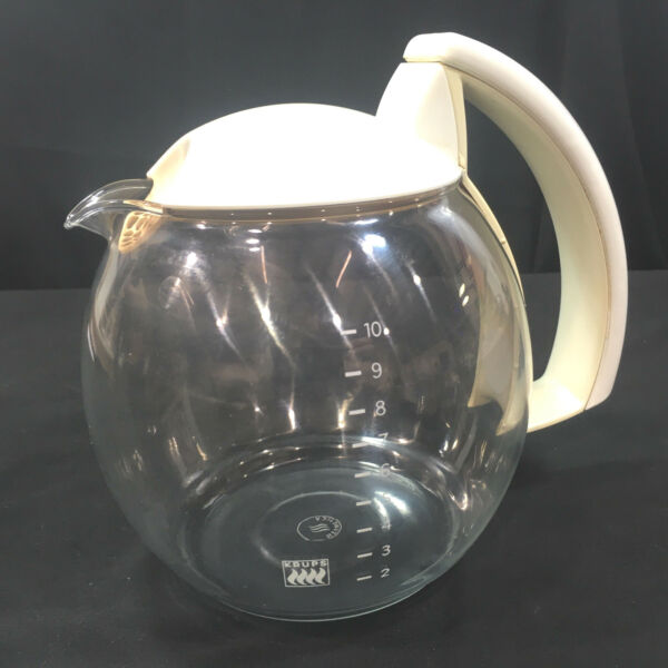 Krups Coffee Pot Replacement 10 Cup Carafe Crystal Arome White 466 467 398 458