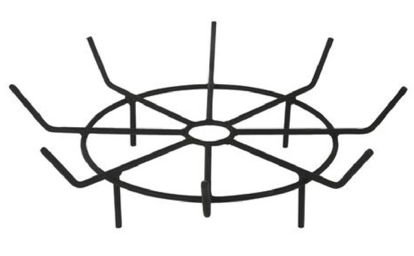 24quot; Heavy Duty Wood Bon Fire Round Pit Log Grate Fire Ring Steel Rods Holder