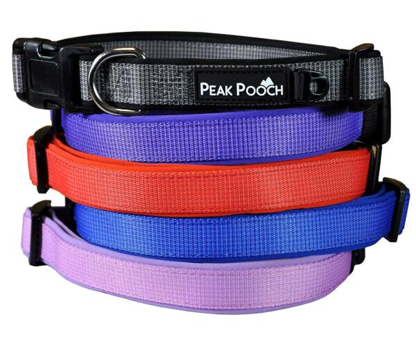 Peak Pooch Premium Designer Dog Collars Soft Padded Adjustable For All Dogs