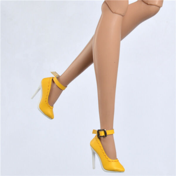 Yellow shoes fit Ob Obitsu Fashion royaltyⅡ  FR2 poppy parker pumps 34A