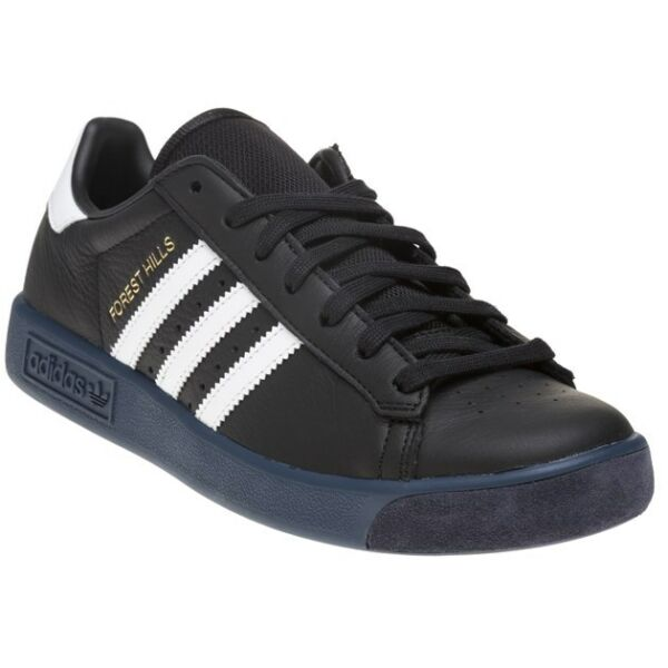 New MENS ADIDAS BLACK FOREST HILLS LEATHER Sneakers Retro