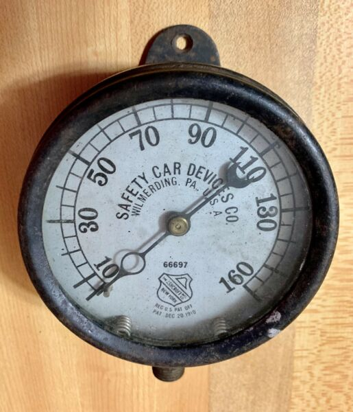 Ashcroft Actual 1910 Auto Gauge Early Logo Low Serial Steam Gauge $299.00