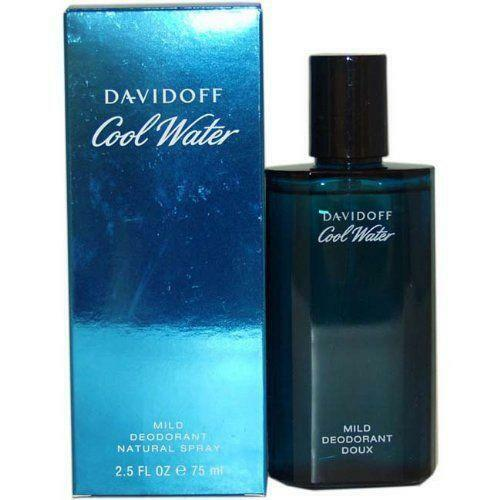 COOL WATER by Davidoff cologne Mild Deodorant Spray for Men 2.5 oz NEW IN BOX $13.54