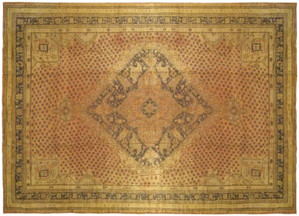 Vintage Turkish Oushak Rug with Medallion & Covered Field with FREE SHIPPING!!