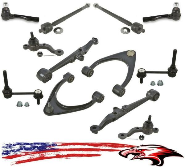 Control Arms Tie Rod Sway Bar Links Ball Joints 12pc Kit for Lexus IS300 01-05