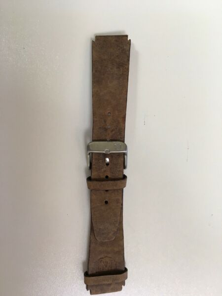New Field amp; Stream 18mm Brown Silver Buckle Authentic Leather Notched Band $30.00