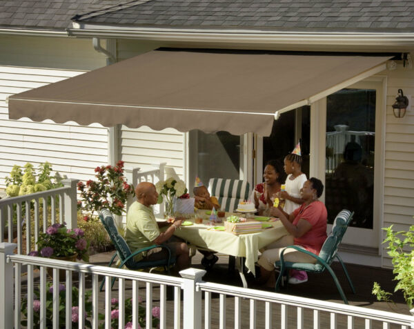 SunSetter Awning Motorized XL Retractable Awning 20 Ft. Shade for Deck