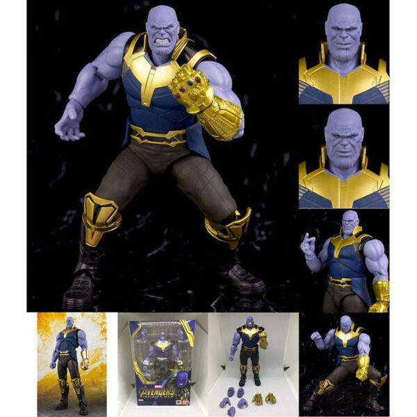 S.H.Figuarts SHF Marvel Avengers Infinity War Thanos Action Figure Toy 6