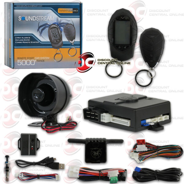 SOUNDSTREAM ARS.3 CAR ALARM 2 WAY PAGING REMOTE START ENTRY AND KEYLESS ENTRY $74.99