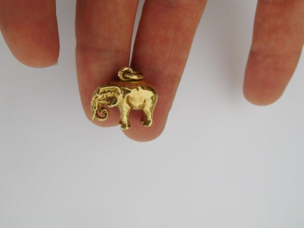 Authentic Original Faberge 14K 56 Gold August Holmström Elephant Pendant Charm🐘