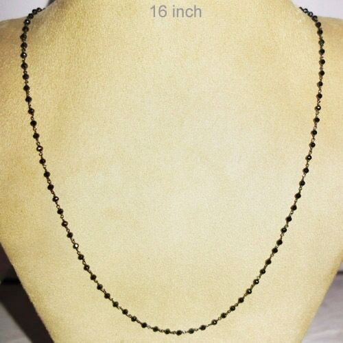 Spinel Gemstone Beaded Chain 925 Sterling Silver Necklace Fashion Jewelry 16