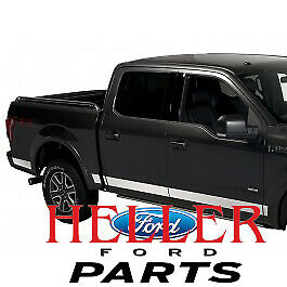 2015-2019 Ford F-150 OEM Stainless Steel Body & Bed Side Molding Trim Kit 8ft Be