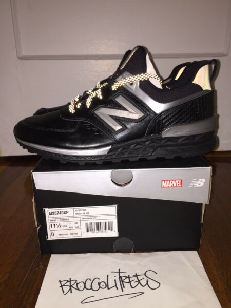 NEW BALANCE 574 BLACK PANTHER MS574BKP sz 11.5 DS kith 998 MARVEL