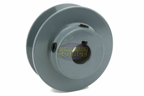2.75quot; Cast Iron 5 8quot; Shaft Pulley Sheave Single 1 Groove V Style A Belt 4L New