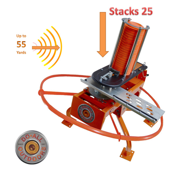 Automatic Auto Trap Clay Target Thrower Launcher Fowl Play 55 Yd 25 Clay Do ALL