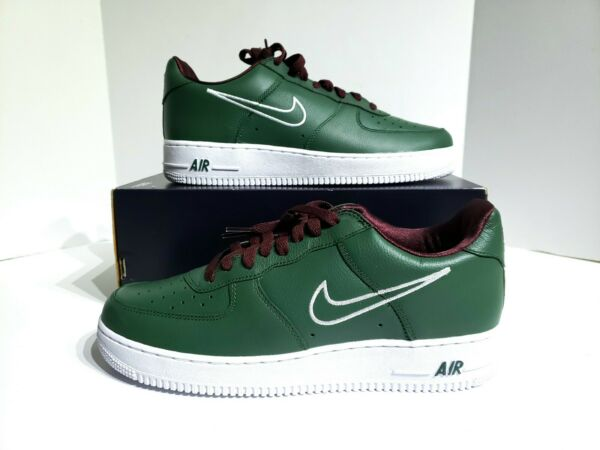 Nike Mens Air Force 1 Low Retro Size 14 Hong Kong Deep Forest White 845053-300