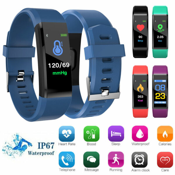 Smart BraceletWristband WatchHeart Rate MonitorFitness TrackerBlood Pressure