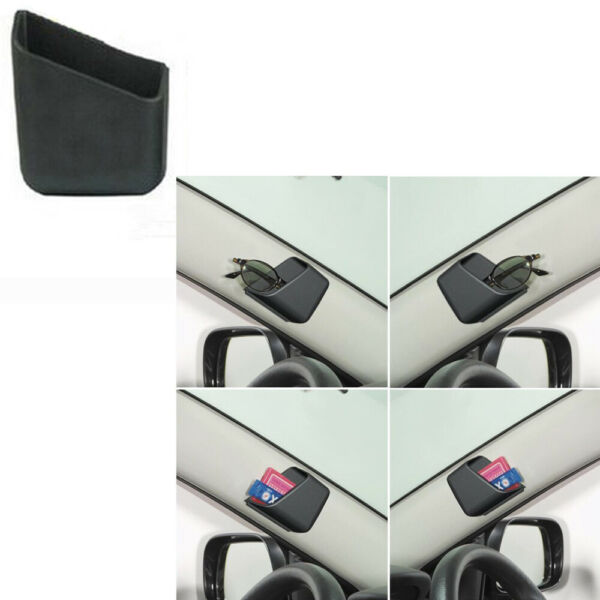2x Universal Car Auto Accessories Phone Organizer Storage Bag Box Holder Black