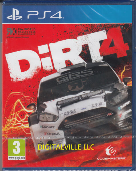 Dirt 4 PS4 Sony PlayStation 4 Brand New Factory Sealed Racing Game $26.99