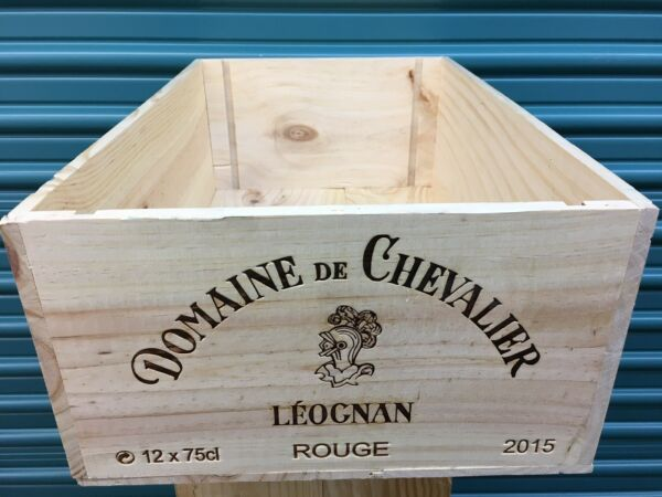 Wine Box Case Wooden Crate 12750ml French Chateau Chevalier  2015 Bordeaux
