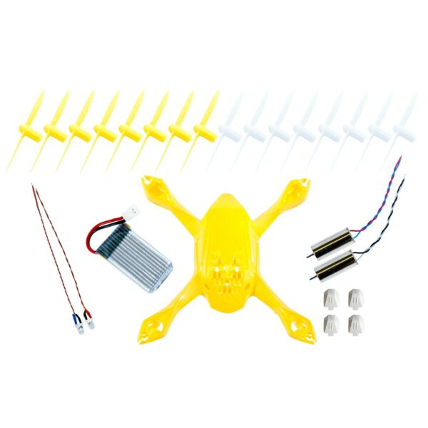 Hubsan spare parts crash pack for X4 H108 Quadcopter drone - Yellow