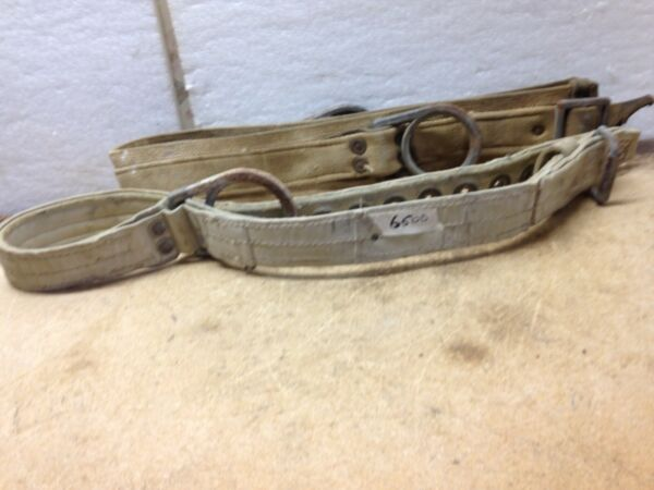 """Safety Belts for Tree Climbing 1 Miller Brand 39"""" L & 1 No Name 54"""" L Lot of 2"""