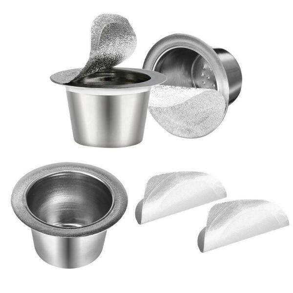 H3E# Refillable Reusable Dolce Gusto Coffee Capsules Stainless Steel Filter Sea