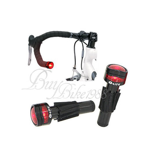 New Q LITE HANDLEBAR Road MTB HANDLEBAR Bar End Light $20.87