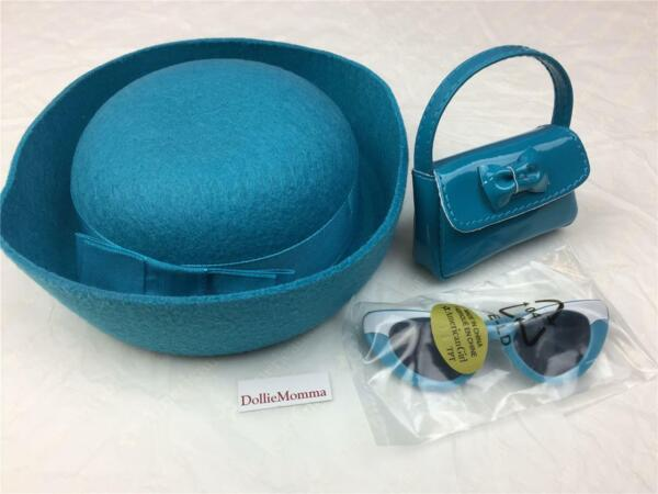 American Girl Melody's Meet Accessories~Blue Hat~Sunglasses~Purse~BeForever Mint