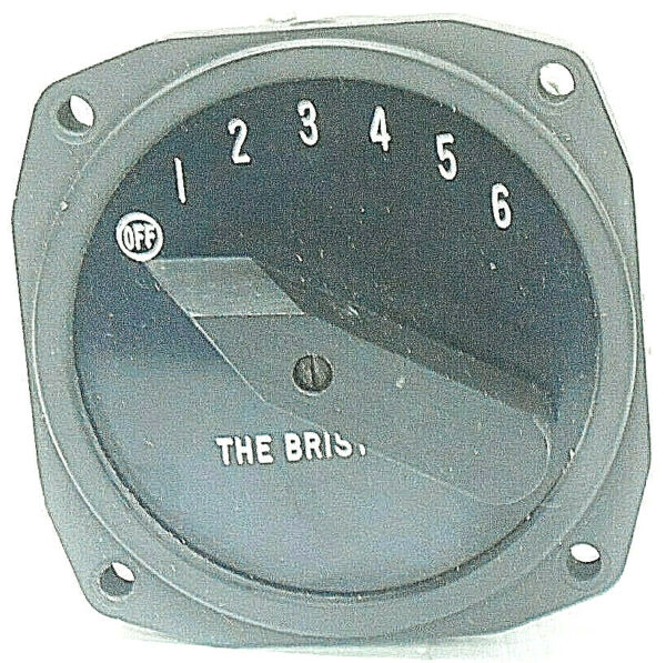 A-3899 BRISTOL COMPANY RADIO FREQUENCY SWITCH OFF 1-6 DIAL NEW OLD STOCK