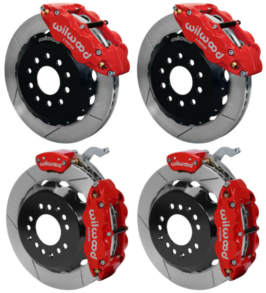WILWOOD DISC BRAKE KITFRONT & REAR WITH PARKING88-96 CORVETTE13
