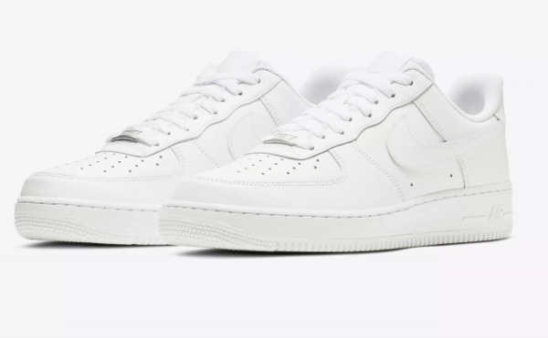New Mens Nike Air Force One 1 Low Top Triple White 315122 111 Sz: 8-14