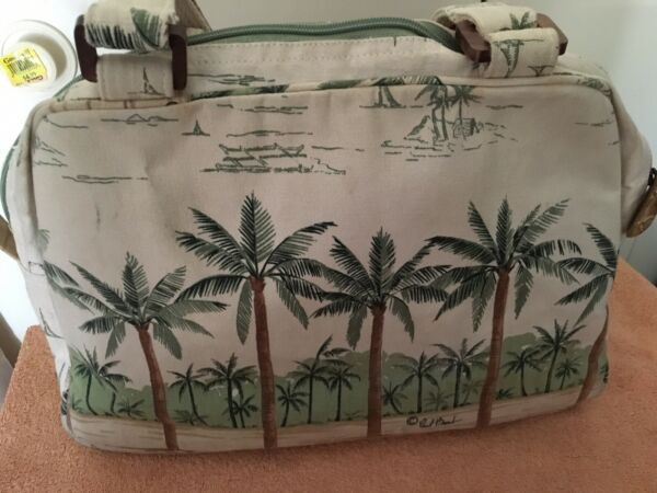 Paul Brent 11 X 15 X 4 Palm Trees Sand Seahorse Wood Shells Cute Rare Find Hobo
