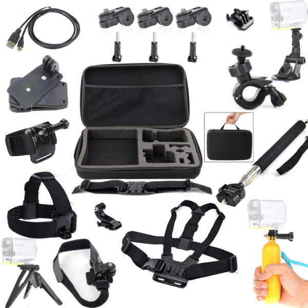 Kit Accessories for Sony Action Cam HDR-AS20 AS30V AS100V AS200V AZ1 mini AS15