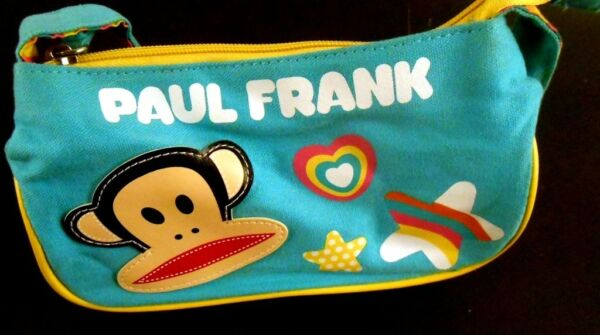 Paul Frank JULIUS the Monkey Youth Girls Strap Purse Teal BlueGreen Heart Stars