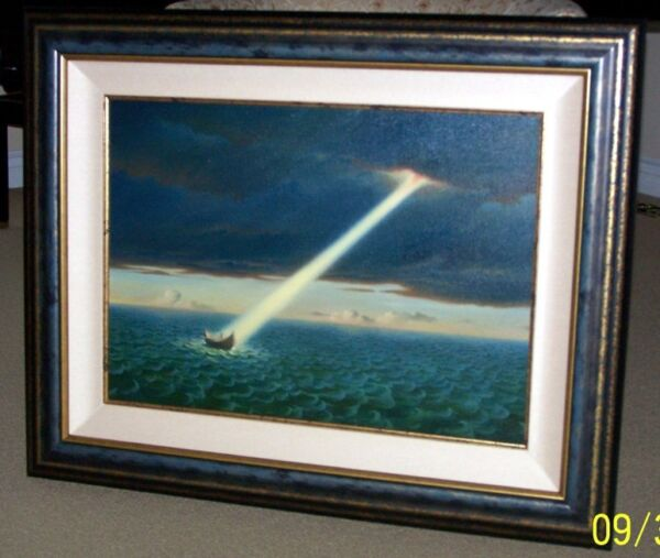 VLADIMIR KUSH - ULYSSES - ORIGINAL PAINTING CANVAS FRAMED - BEST OFFERS WELCOME
