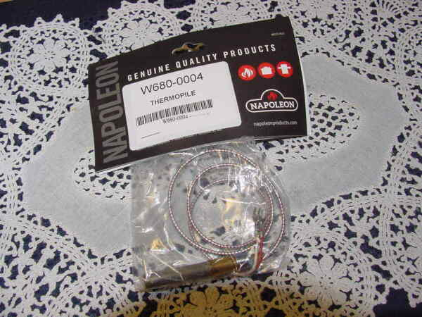 Napoleon W680 0004 Fireplace 24 Inch Thermopile 750mv NEW IN PACKAGE