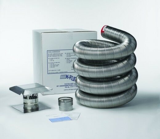 Stainless Steel Flexible Basic Chimney Liner Kits Available in Various sizes
