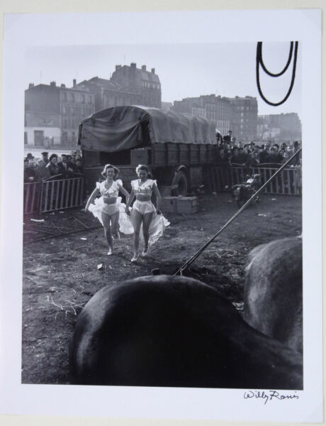 Willy RONIS Le Zoo-Circus Zavatta 1949 silver original photo signed by W.Ronis