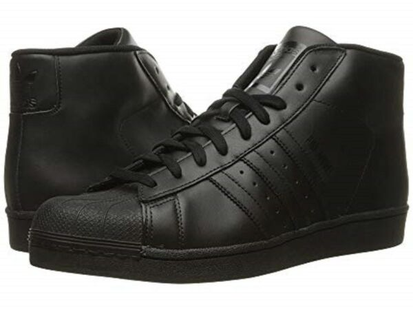 ADIDAS S85957 PRO MODEL Mn´s (M) Black/Black Leather Basketball Shoes