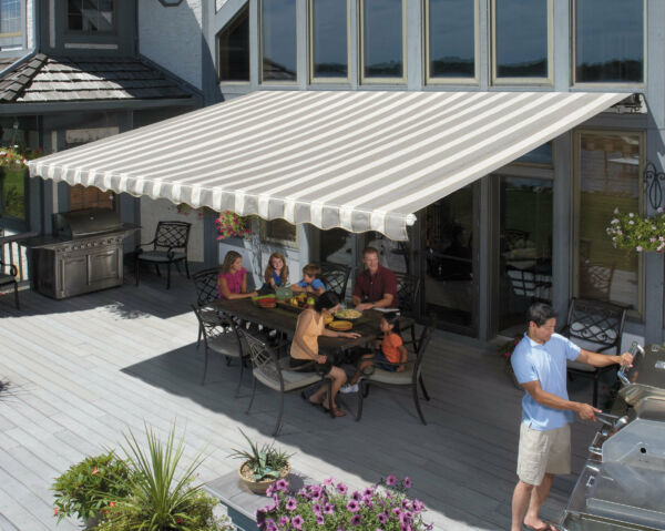 SunSetter Awnings Motorized Retractable Awning 14 x 10 ft. Deck