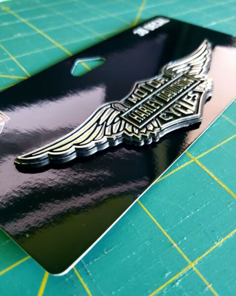 HARLEY DAVIDSON HD AUTO TRUCK MOTORCYCLE WINGS WINGED EMBLEM 3D DECAL GENUINE $19.95