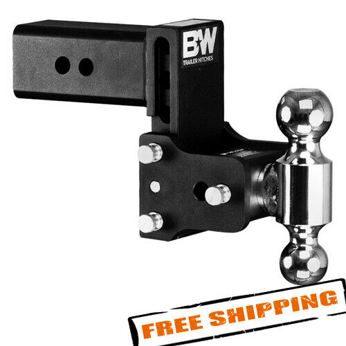 Bamp;W Trailer Hitches TS30037B Tow amp; Stow 2 Ball Mount for 3quot; Hitch Receivers