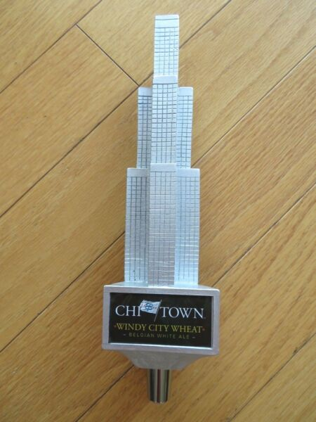 CHI TOWN Windy City Wheat Belgian White Ale beer tappertap handlesuper rare