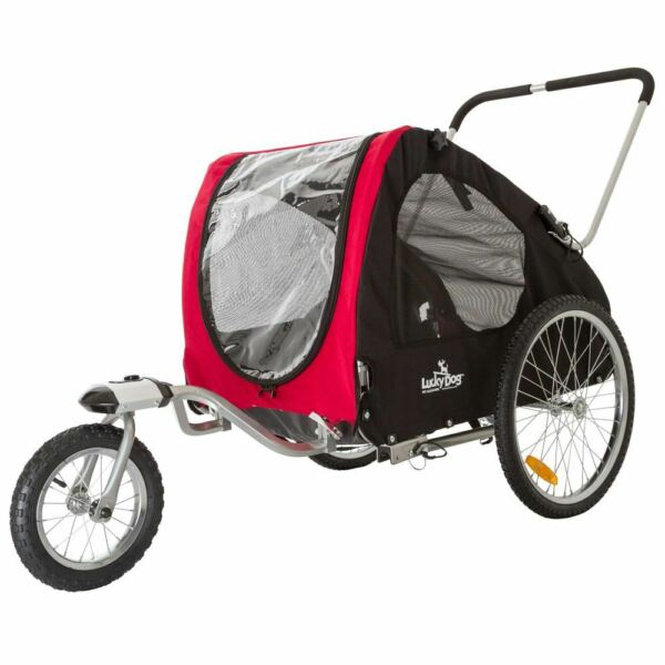 Lucky Dog Deluxe Pet StrollerBike Trailer Combo