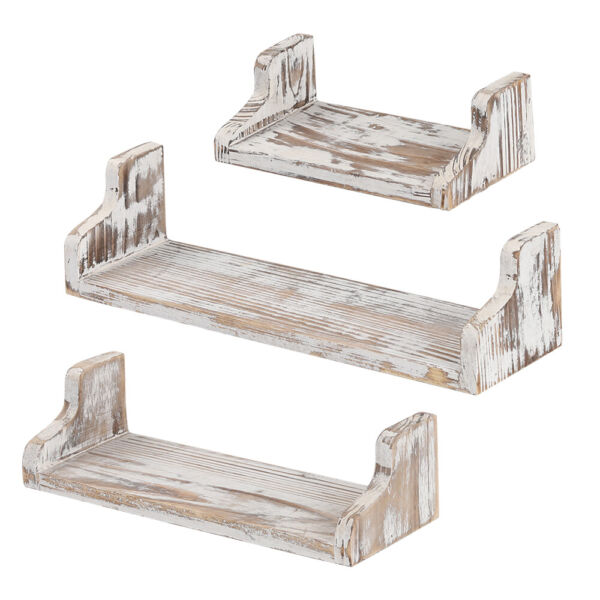 Set of 3 Floating Shelves Bookshelf Wall Mount Shelf Display Home Decor
