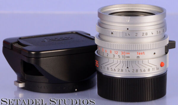 LEICA 35MM SUMMILUX-M F1.4 AA SILVER CHROME ASPHERICAL PROTOTYPE 11873 LENS 11